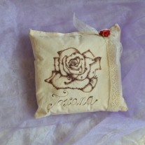 """Cuscino """"Rosa Toscana"""""""
